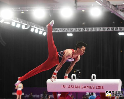 Lee Chih-kai won the gold medal in the men's pommel horse at Artistic Gymnastics World Cup series